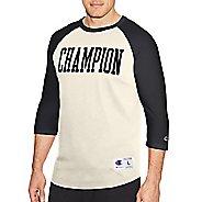 Mens Champion Heritage Baseball Slub Tee Long Sleeve Technical Tops