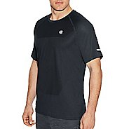 Mens Champion Outdoor Training Tee Short Sleeve Technical Tops - Stealth Heather L