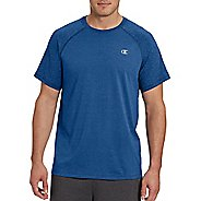 Mens Champion C Vapor Cotton Tee Short Sleeve Technical Tops - White/Oxford Grey M
