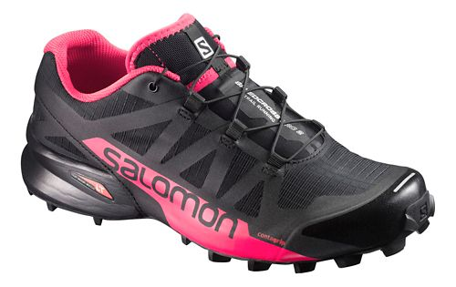 Womens Speedcross Pro 2 Trail Running Shoe - Black/Pink 6.5