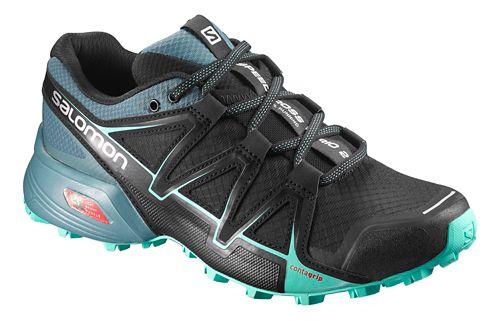 Womens Salomon Speedcross Vario 2 Trail Running Shoe - Black/Atlantic/Ibis 9