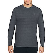 Mens Champion C Vapor Heather Tee Long Sleeve Technical Tops - Stealth Heather S