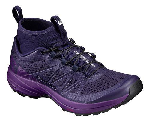 Womens Salomon XA Enduro Trail Running Shoe - Blue/Grape/Black 6.5