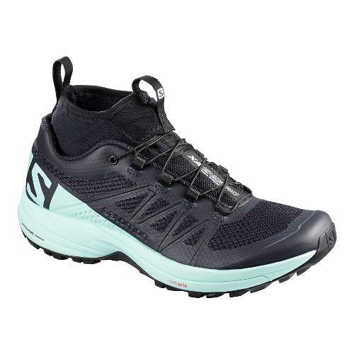 Womens Salomon XA Enduro Trail Running Shoe - Blue Black 10