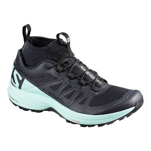 Womens Salomon XA Enduro Trail Running Shoe - Blue Black 7.5
