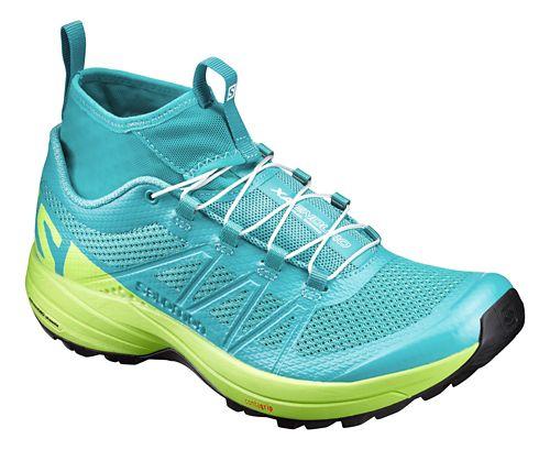 Womens Salomon XA Enduro Trail Running Shoe - Ceramic/Lime/Black 10.5