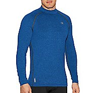 Mens Champion Mock Cold Weather Technical Tops - Black/Stormy Night XL