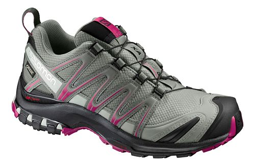 Womens Salomon XA Pro 3D GTX Trail Running Shoe - Shadow/Black/Sangria 8.5
