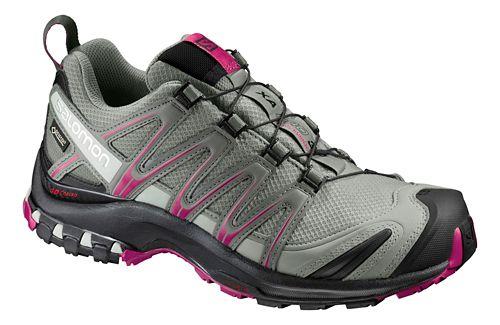 Womens Salomon XA Pro 3D GTX Trail Running Shoe - Shadow/Black/Sangria 9.5