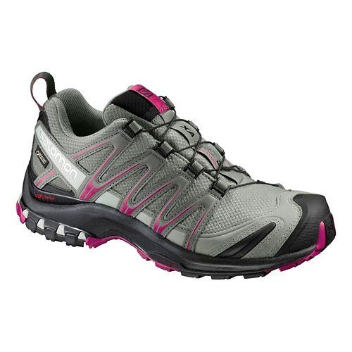 Womens Salomon XA Pro 3D GTX Trail Running Shoe - Shadow/Black/Sangria 5