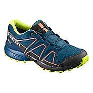Kids Salomon Speedcross CSWP Trail Running Shoe - Blue/Poseidon/Ibis 1.5Y