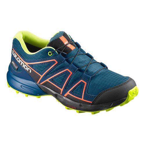 Kids Salomon Speedcross CSWP Trail Running Shoe - Blue/Poseidon/Ibis 1Y