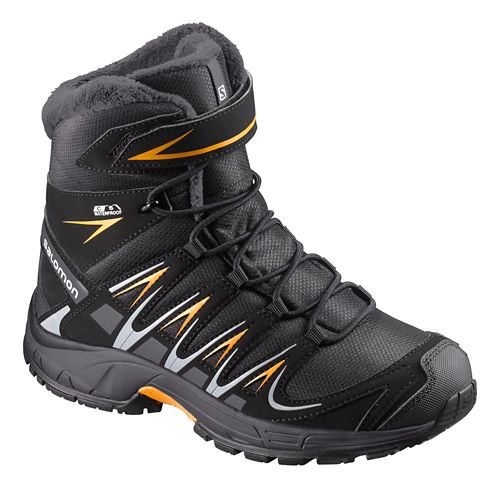 Kids Salomon XA Pro 3D Winter TS CSWP Hiking Shoe - Black/Ink/Marigold 12C