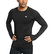 Mens Champion Gear Cold Weather Tee Long Sleeve Technical Tops - Black XL
