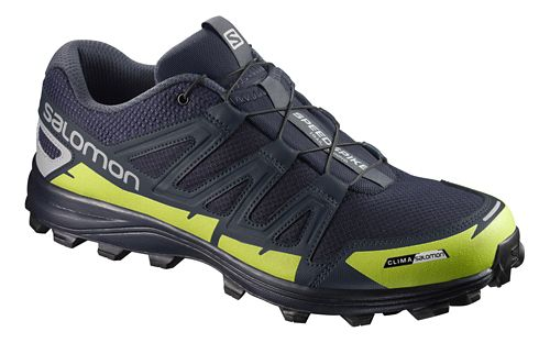 Salomon Speedspike CS Trail Running Shoe - Navy/Silver/Lime 9.5
