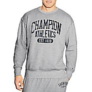 Mens Champion Heritage Fleece Crew Long Sleeve Technical Tops - Oxford Grey S