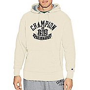 Mens Champion Heritage Fleece Pullover Hood Half-Zips & Hoodies Technical Tops - White Alabaster S