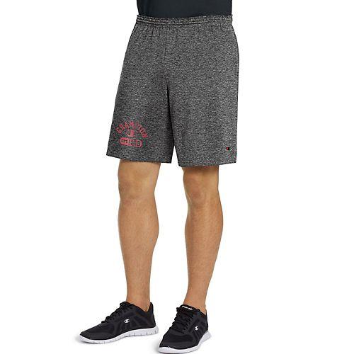 Mens Champion Jersey -Graphic Unlined Shorts - Granite Heather XXL