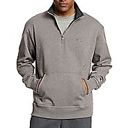 Mens Champion Powerblend Fleece 1/4 Zip Half-Zips & Hoodies Technical Tops - Oxford Grey M
