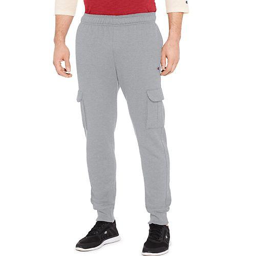 Mens Champion Powerblend Fleece Cargo Jogger Pants - Oxford Grey XXL