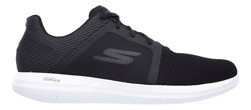 Mens Skechers GO Flex 2 Casual Shoe - Black/White 13