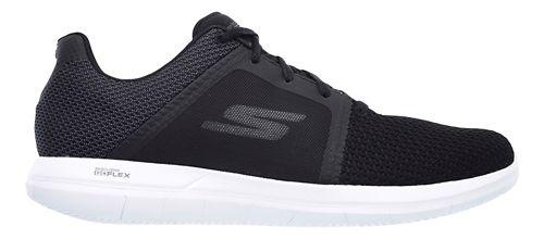 Mens Skechers GO Flex 2 Casual Shoe - Black/White 14
