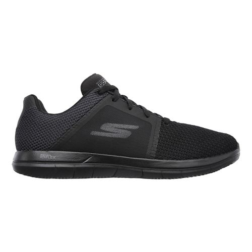 Mens Skechers GO Flex 2 Casual Shoe - Black/Grey 8.5
