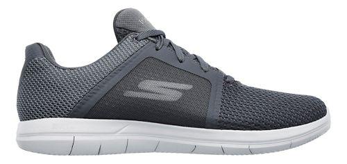 Mens Skechers GO Flex 2 Casual Shoe - Black/White 9
