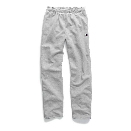 Mens Champion Powerblend Fleece Open Bottom Pants - Oxford Grey L