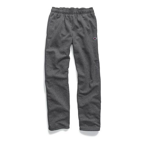 Mens Champion Powerblend Fleece Open Bottom Pants - Granite Heather XXL