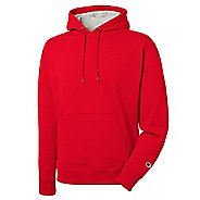 Mens Champion Powerblend Fleece Pullover Hood Half-Zips & Hoodies Technical Tops - Team Red ...