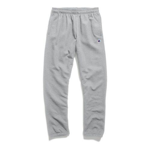 Mens Champion Powerblend Fleece Relaxed Bottom Pants - Oxford Grey XL