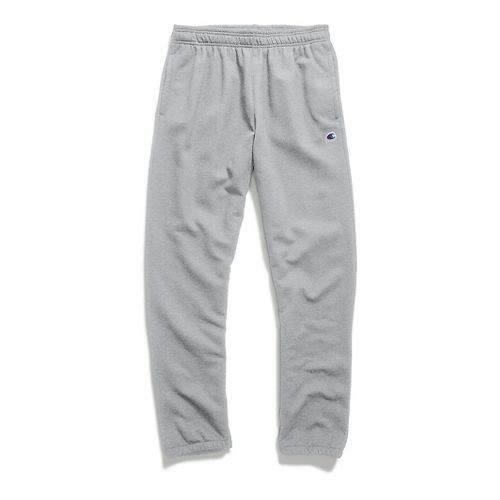 Mens Champion Powerblend Fleece Relaxed Bottom Pants - Oxford Grey XXL