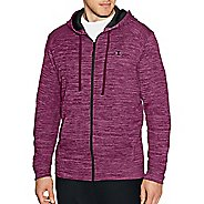 Mens Champion Premium Tech Fleece Full Zip Hood Half-Zips & Hoodies Technical Tops