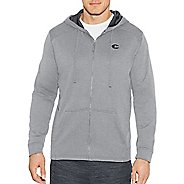 Mens Champion Tech Fleece Full Zip Hood Half-Zips & Hoodies Technical Tops - Oxford Grey XXL