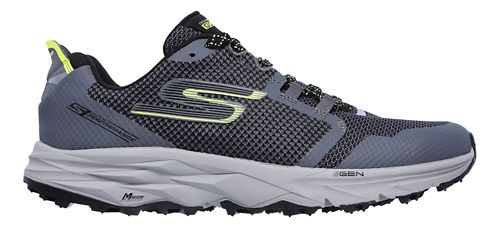 Mens Skechers GO Trail 2 Trail Running Shoe - Charcoal/Lime 10