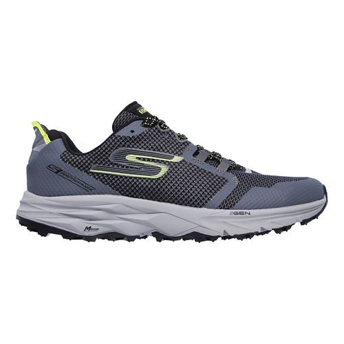 Mens Skechers GO Trail 2 Trail Running Shoe - Charcoal/Lime 9