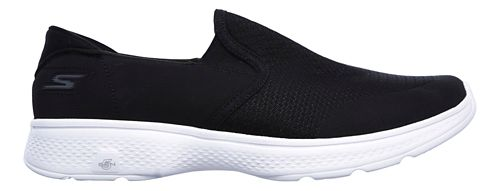 Mens Skechers GO Walk 4 - Contain Walking Shoe - Black/White 7
