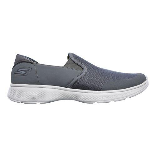 Mens Skechers GO Walk 4 - Contain Walking Shoe - Charcoal 12