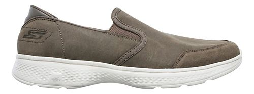 Mens Skechers GO Walk 4 - Deliver Walking Shoe - Taupe 11