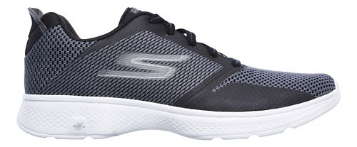 Mens Skechers GO Walk 4 - Elect Walking Shoe - Black/White 7.5