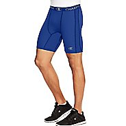 Mens Champion PowerFlex Solid Compression & Fitted Shorts - Surf The Web Blue L