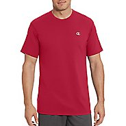 Mens Champion Vapor Cotton Basic Tee Short Sleeve Technical Tops - Scarlet M