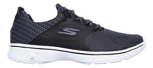 Mens Skechers GO Walk 4 - Instinct Walking Shoe - Black/White 11