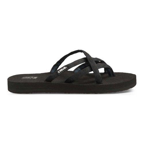 Womens Teva Olowahu Sandals Shoe - Black Black 7
