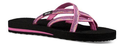 Womens Teva Olowahu Sandals Shoe - Raspberry 8