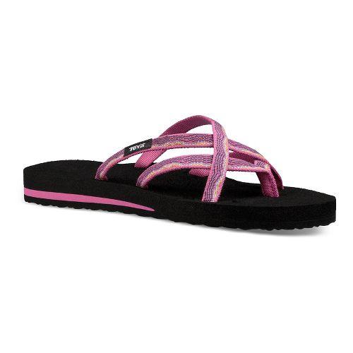 Womens Teva Olowahu Sandals Shoe - Raspberry 6