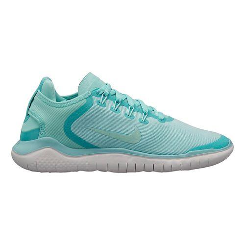Womens Nike Free RN 2018 SUN Running Shoe - Turquoise 9