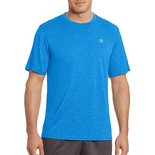 Mens Champion Vapor Heather Tee Short Sleeve Technical Tops - Oxford Grey M