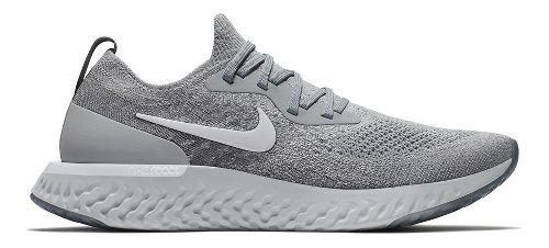 Mens Nike Epic React Flyknit Running Shoe - Grey/White 11